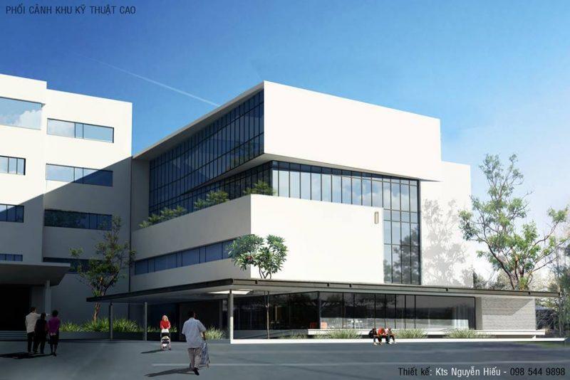 Phối cảnh khoa Quốc tế Bệnh viện Hữu Nghị Lạc Việt