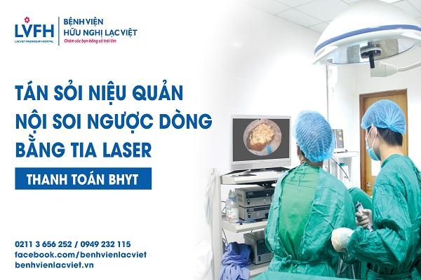 tán sỏi niệu quản nội soi ngược dòng laser